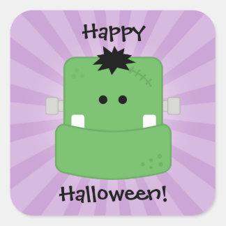 Funny Face Frankenstein Square Sticker