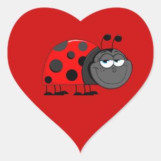 Funny Face Ladybug Sticker