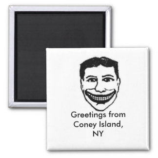 Funny Face Magnet- Coney Island Magnet