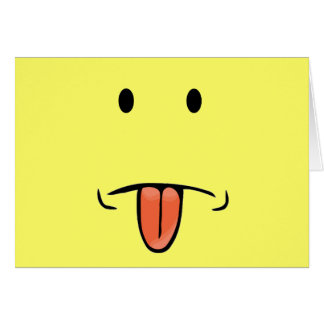 Funny face notecards card