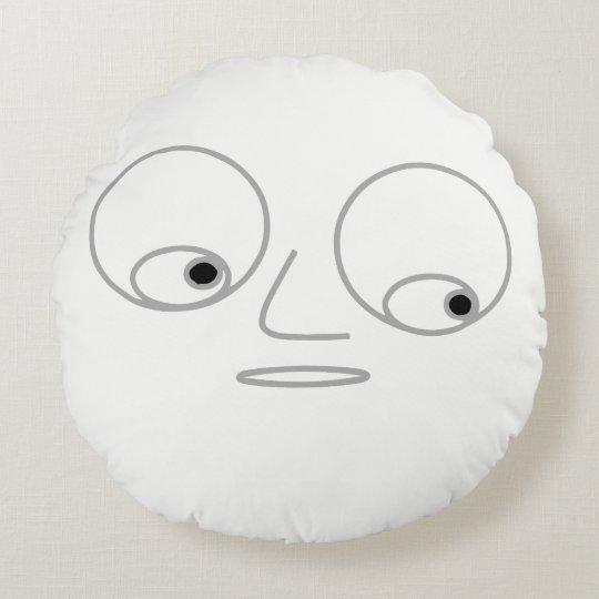 Funny Face Print Round Pillow