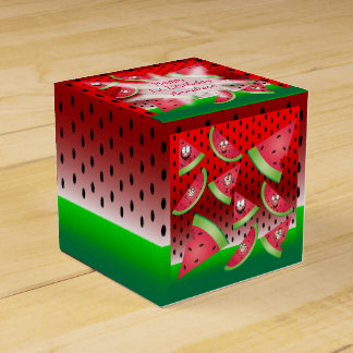 Funny Face Watermelon Kid's Birthday Favor Box