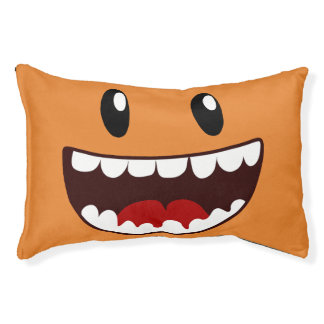 Funny Face Wide Mouth Small Dog Bed