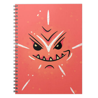 Funny Face with Smirky Smile - Red Notebook