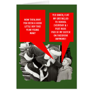 Funny facebook Christmas Greeting Card