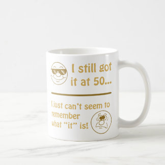 Funny Faces 50th Birthday Gag Gifts Classic White Coffee Mug
