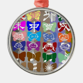 Funny Faces,  Chinese Characters and Sparkles Christmas Ornaments