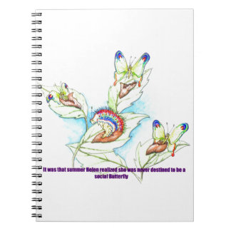funny Failed Social Butterfly caterpiller Note Book