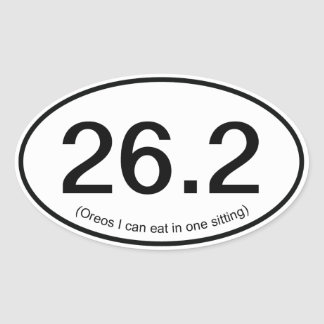 Funny Fake 26.2 Marathon Sticker