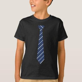 Funny Fake Blue Striped Tie Tshirt