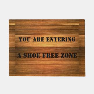 Funny Fake Wood Shoe Free Zone Door Mat