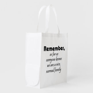 Funny family quotes reusable tote bags gag gifts