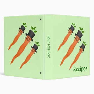 Funny fancy carrots 3 ring binders