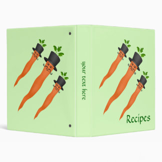 Funny fancy carrots binder