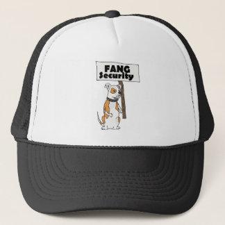 Funny Fang Security American Bulldog Cartoon Trucker Hat
