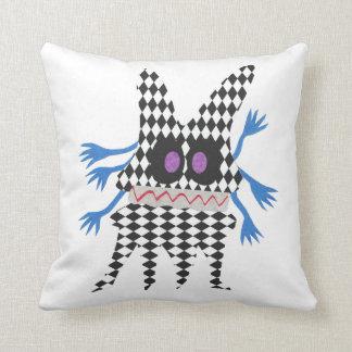 funny fantasy creature throw pillow
