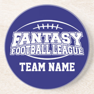 Funny Fantasy Football FFL Gift - Customize it Coaster