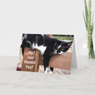 Funny Farm Cat Photo Greeting Card