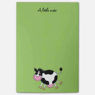 funny farm dancing cow post-it notes