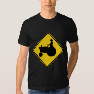 Funny Farm Tractor Road Sign Warning Shirts