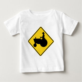Funny Farm Tractor Road Sign Warning T Shirts
