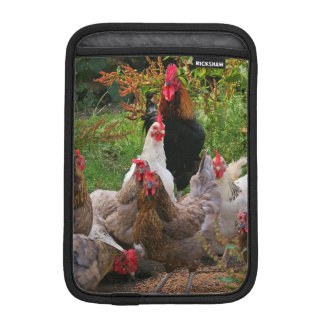 Funny Farmyard Chickens & Rooster iPad Sleeve