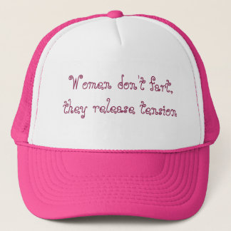 Funny Fart Hat for Women in Pink and White