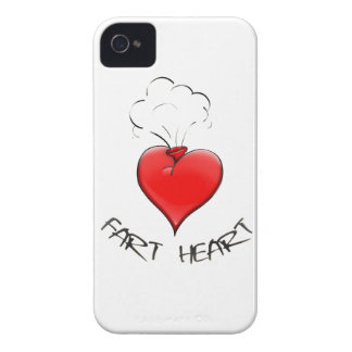 Funny Fart Heart iPhone 4 Case-Mate Cases