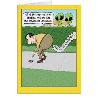 Funny Fart Language Birthday Card