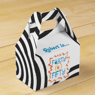 Funny Farty at Fifty 50th Birthday Favor Box