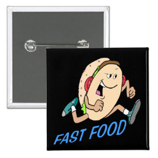 Funny Fast Food T-shirts Gifts Pinback Buttons