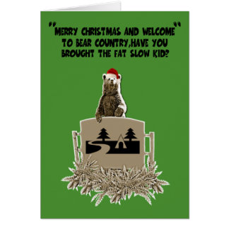 Funny fat joke Christmas Card