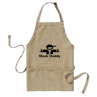 Funny Fathers Day BBQ apron for dad | Mack Daddy