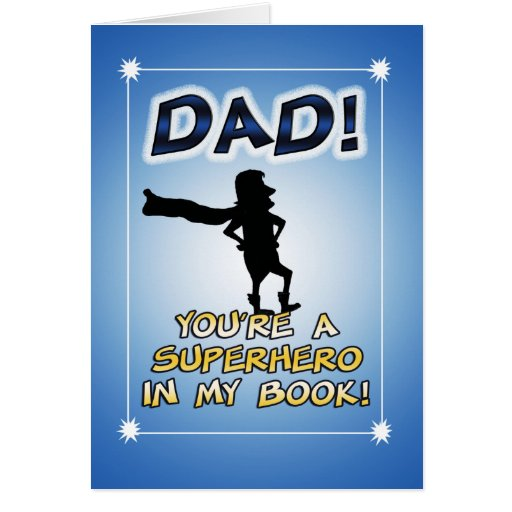 Funny Father's Day card: Superhero