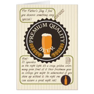 Funny Father's Day Retro Beer Label for Nephew Card