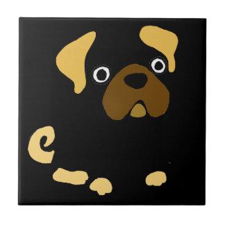 Funny Fawn Pug Dog Abstract Tiles