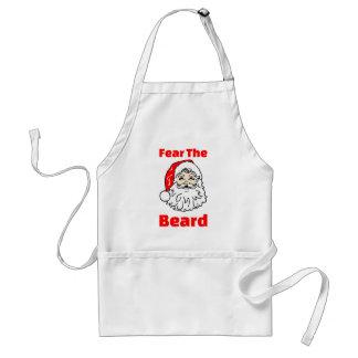 Funny Fear The Beard Santa Claus Standard Apron