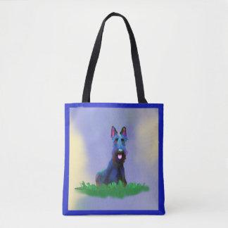 Funny Feisty Scottish Terrier Tote Bag