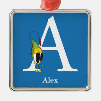 Funny Fellows ABC: Letter A | Add Your Name Metal Ornament