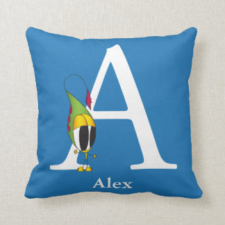 Funny Fellows ABC: Letter A | Add Your Name Throw Pillow