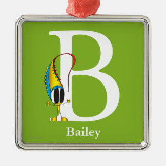 Funny Fellows ABC: Letter B | Add Your Name Metal Ornament