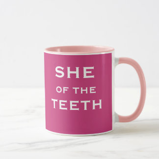 Funny Female Dentist Name and Job Title Mug
