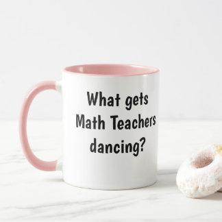 Funny Female Math Teacher Mug Logarithm Joke Pun