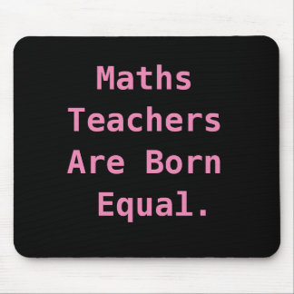 Funny Female Maths Teacher Gift Joke Pun Quote Mouse Pad