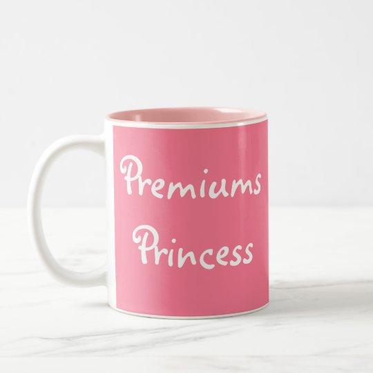 Funny Female Underwriter Insurer Joke Name Title Two-Tone Coffee Mug