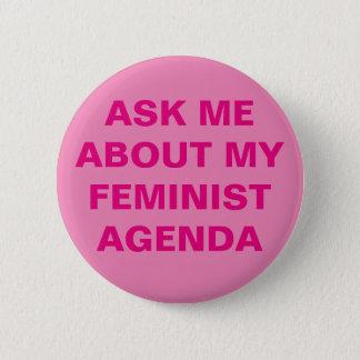 Funny Feminist Button