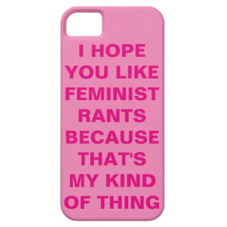 Funny Feminist iPhone 5 Case