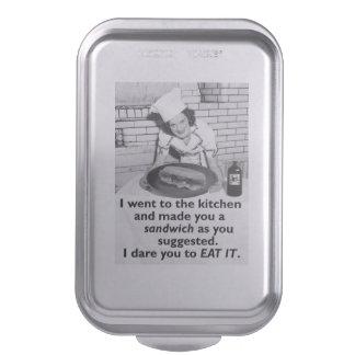 Funny Feminist Make Me a Sandwich Baking Pan