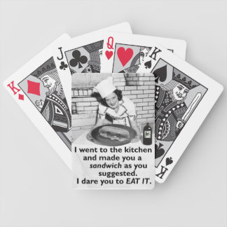 Funny Feminist Make Me a Sandwich Bicycle Poker Deck