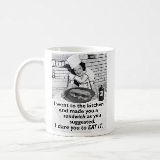 Funny Feminist Make Me a Sandwich Classic White Coffee Mug